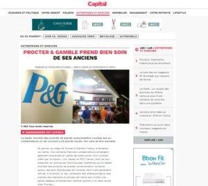 Capital parle des anciens de Procter & Gamble et interviewe Elixir-Conseil
